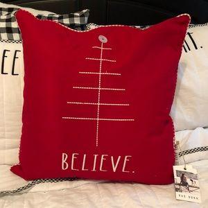 NWT Rae Dunn BELIEVE Pillow